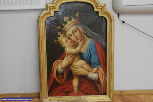 Odnaleźli XVIII wieczny obraz skradziony 25 lat temu zjednego zkościołów