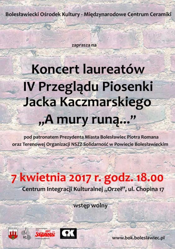 Konkurs dla uczniów - przegląd piosenki Jacka Kaczmarskiego