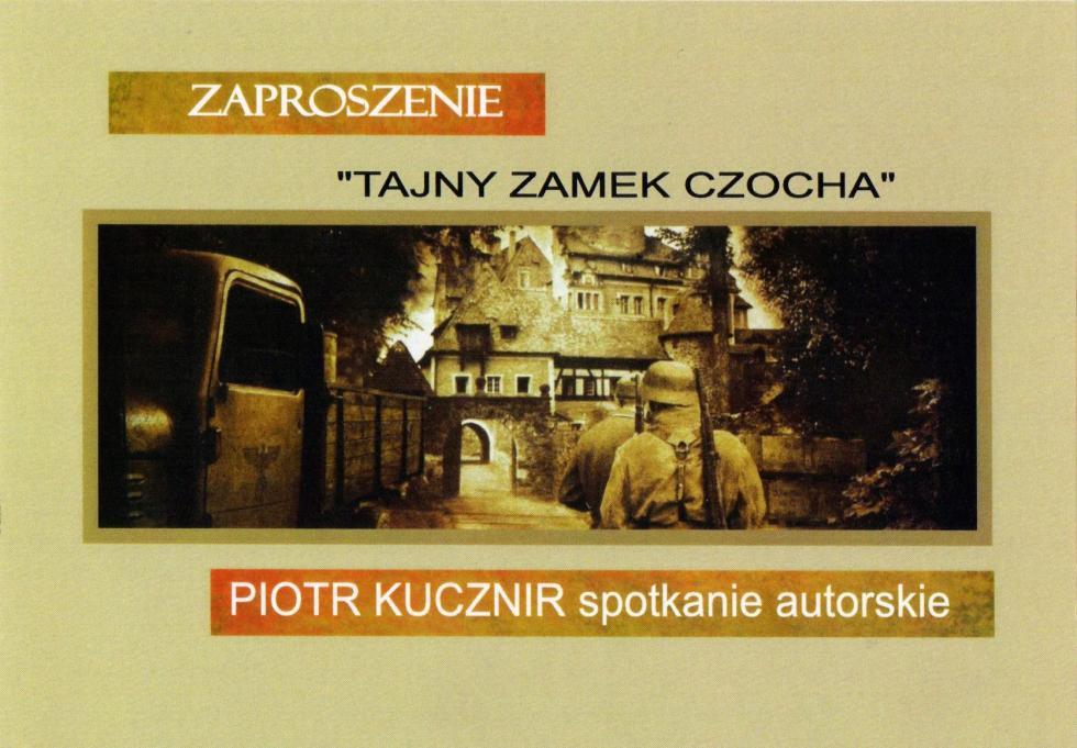Spotkanie autorskie  zPiotrem Kucznirem – przewodnikiem po zamku Czocha