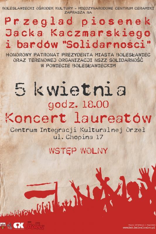 Koncert laureatów przeglądu piosenek Jacka Kaczmarskiego ibardów 'Solidarności'