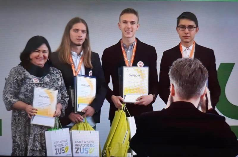 Finał olimpiady ZUS - Zgorzelec na podium