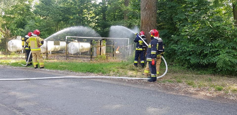 Płonął gaz