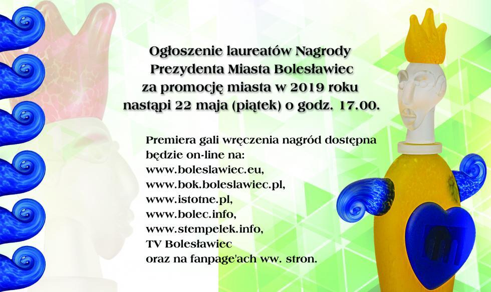 Nagrody za promocję  Bolesławca - gala wręczenia nagród on-line